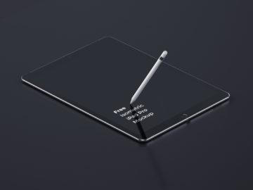 Free Isometric ipad pro MockUp