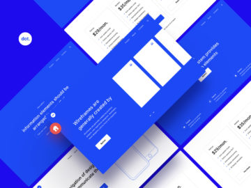 Ready-to-go UI wireframe pack