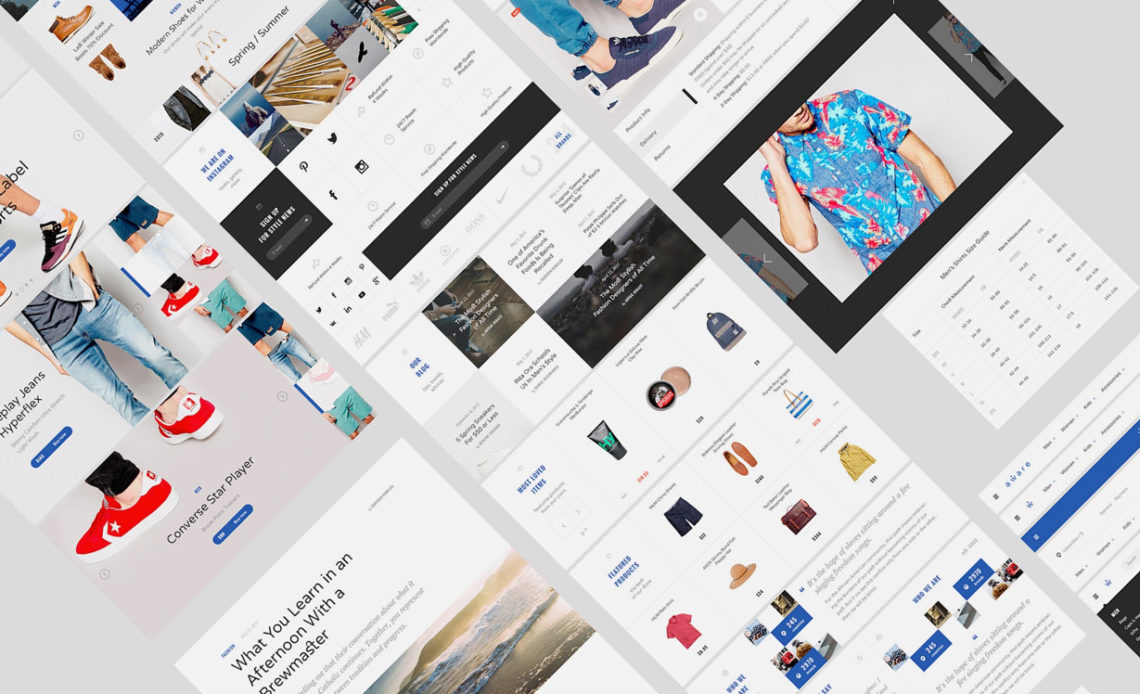 Modern & Stylish  Ecommerce UI Kit