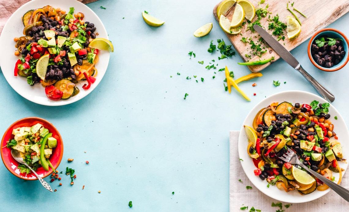 Vietnamese noodle salad and spicy peanut vinaigrette